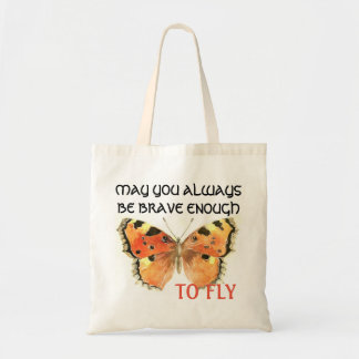 Butterfly Quote Tote Bag