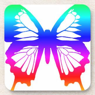Butterfly - Rainbow Drink Coaster