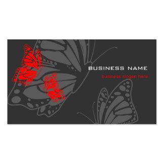 Butterfly Red & Dark Elegant Modern Business Cards
