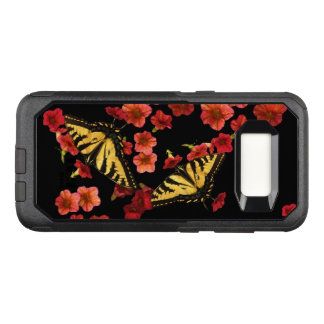 Butterfly Red Flower OtterBox Galaxy S8 Case
