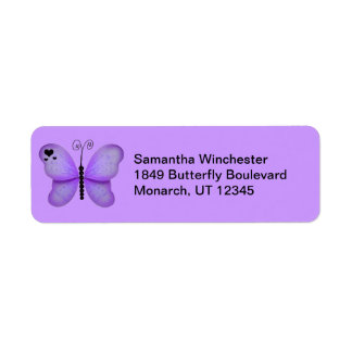 Butterfly Return Address Labels