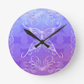 Butterfly Ribbon Clock