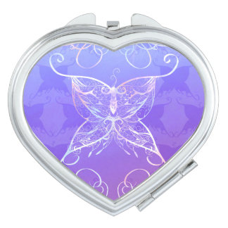 Butterfly Ribbon Compact Mirror
