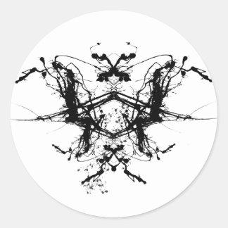 Butterfly Rorshax Round Sticker