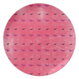 Butterfly rosy plate