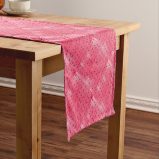 Butterfly rosy short table runner