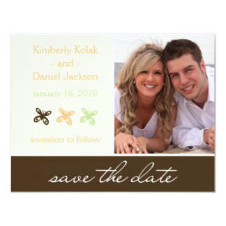 "Butterfly ""Save the Date"" Card"