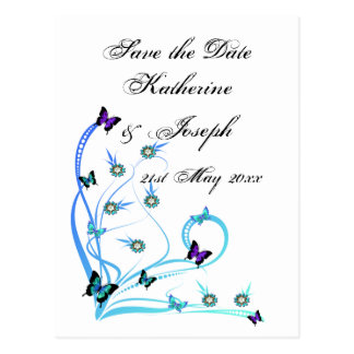 Butterfly Save the Date Postcard