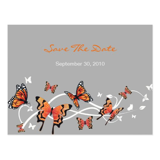 Butterfly Save The Date Wedding Announcement Post Cards