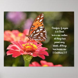 Butterfly Scripture Poster 2 Corinthians