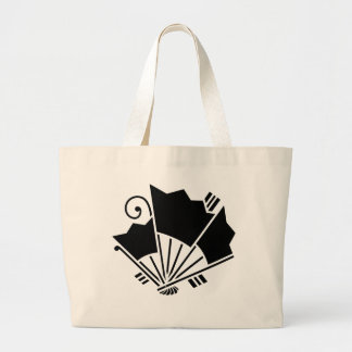 Butterfly-shaped fans (Ageha) Large Tote Bag