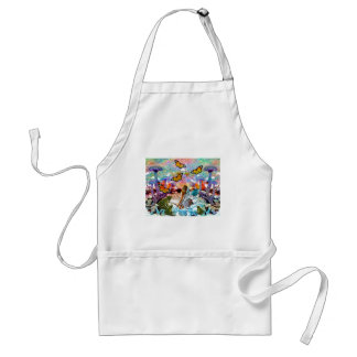 BUTTERFLY SHOW FOR FAE AND FROGS STANDARD APRON