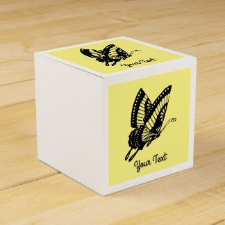Butterfly Silhouette Wedding Favour Box