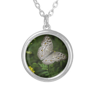 butterfly silver plated necklace