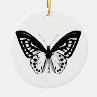 Butterfly sketch, black and white ornament