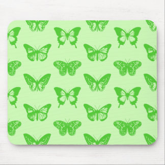 Butterfly sketch,  lime green mouse pad