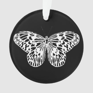 Butterfly sketch, white and black