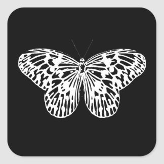Butterfly sketch, white and black stickers