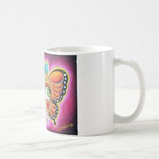 Butterfly skull basic white mug