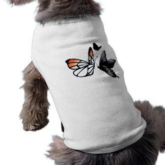 butterfly sleeveless dog shirt