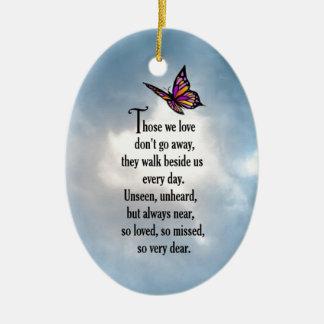 "Butterfly ""So Loved"" Poem Ceramic Oval Decoration"