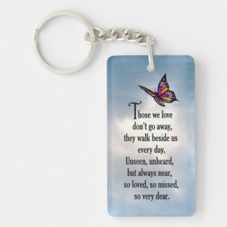 "Butterfly ""So Loved"" Poem Key Ring"