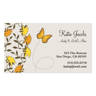 Butterfly Social Calling Cards Business Card