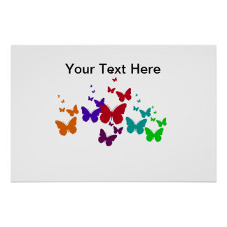 Butterfly Spectrum Poster
