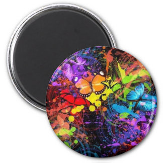 butterfly-splatter-welcome-default 6 cm round magnet