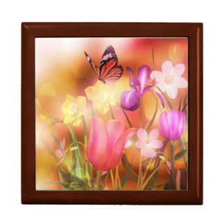 Butterfly spring sun dance box large square gift box