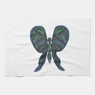 Butterfly, stained glass, spiral, t shirts, gifts tea towel