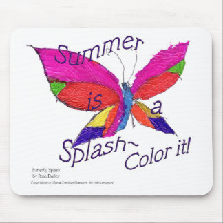 Butterfly Summer Splash Mouse Pad