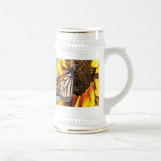butterfly sunflower mug