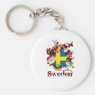 Butterfly sweden basic round button key ring