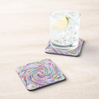 butterfly swirl cork coasters set