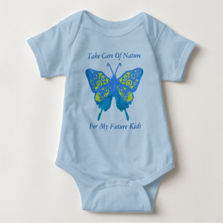 Butterfly Take Care Of Nature For My future Kids Baby Bodysuit