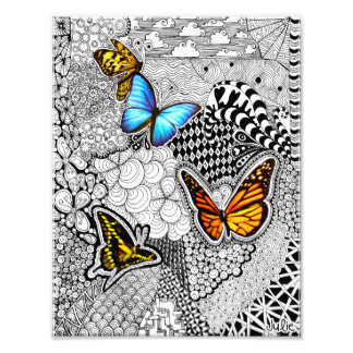 Butterfly Tangle Photo Print