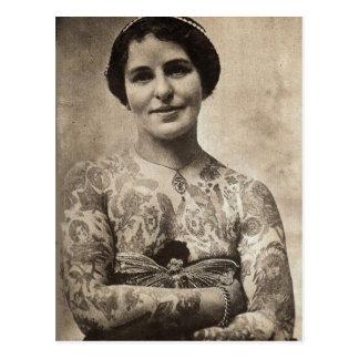 Butterfly Tattoo Girl Postcard