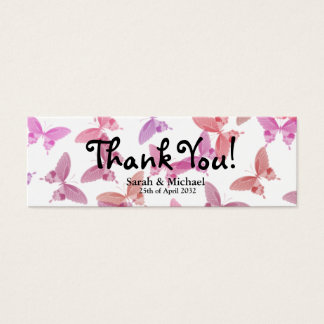 "Butterfly 'Thank You"" Wedding favor Gift tag Mini Business Card"