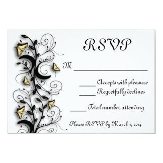 """Butterfly Theme 3.5"""" X 5"""" Invitation Card"""