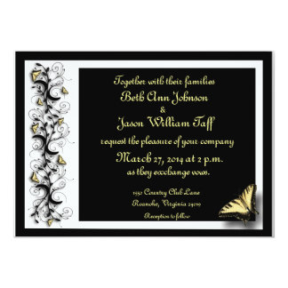 """Butterfly Theme 5"""" X 7"""" Invitation Card"""
