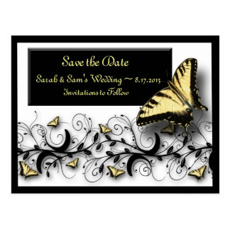 Butterfly Theme Save the Date Postcard