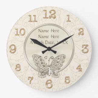 Butterfly Themed Wedding Gifts PERSONALIZED Clocks