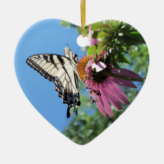 Butterfly (Tiger Swallowtail) Ceramic Ornament