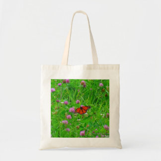Butterfly Tote Bag-Monarch in Flight Budget Tote Bag