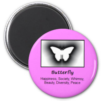 Butterfly Totem Animal Spirit Meaning 6 Cm Round Magnet