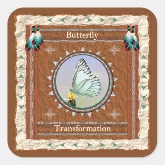 Butterfly  -Transformation- Sticker - 20 per sheet