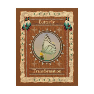 Butterfly  -Transformation- Wood Canvas