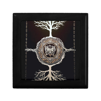 Butterfly Tree Mandala Small Square Gift Box