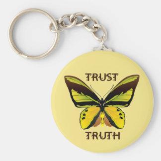 BUTTERFLY - TRUST - TRUTH KEY RING